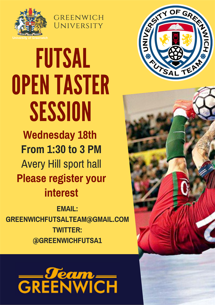 Futsal Trial/Taster session Avery Hill