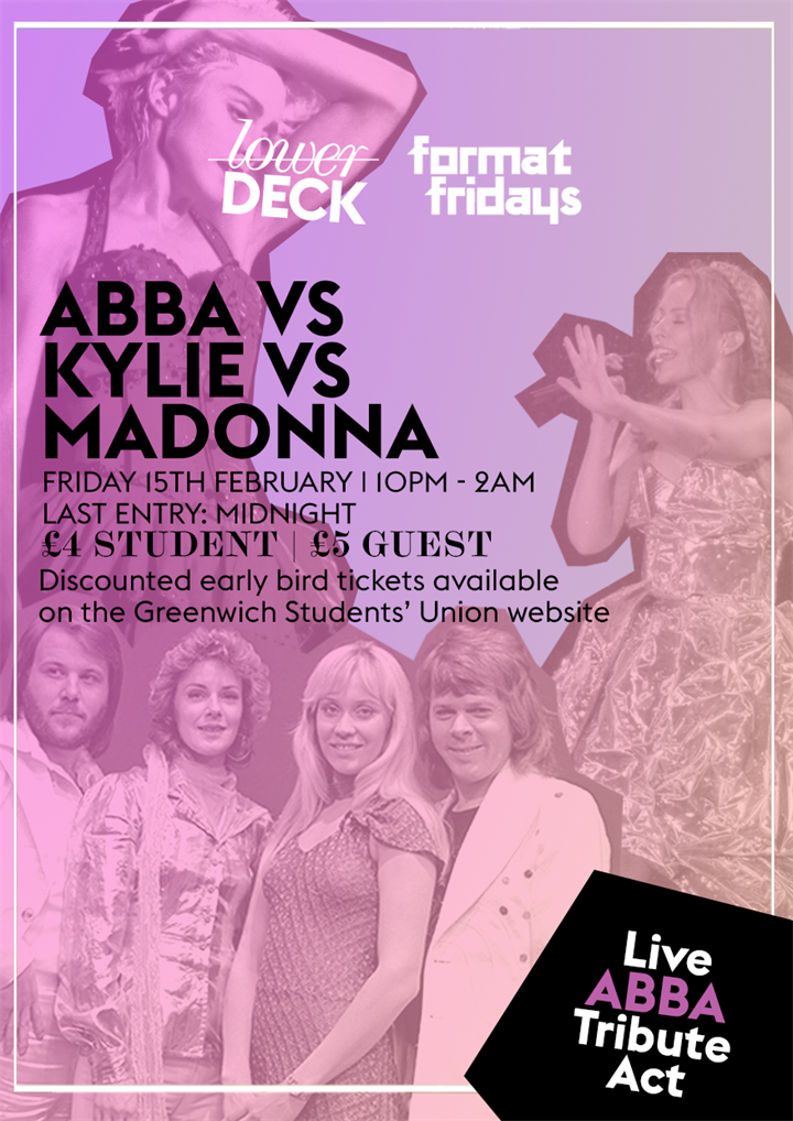 ABBA Vs Kylie Vs Madonna - With live ABBA tribute act!