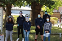 Group of students in face masks