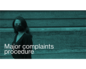 Major complaints procedure