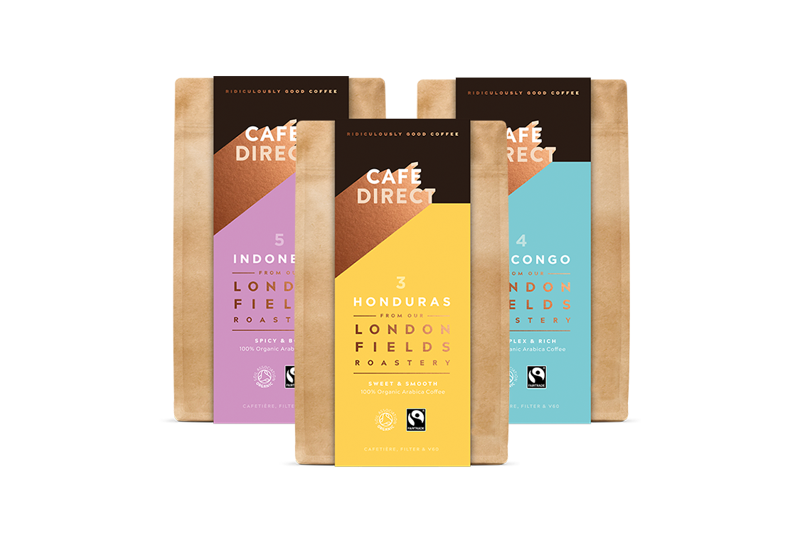 photo of cafe direct coffee bags