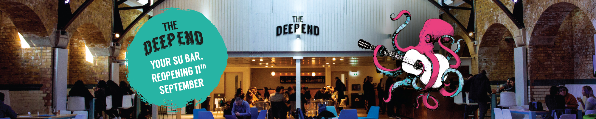 Picture the Deep End with logo and branding on top