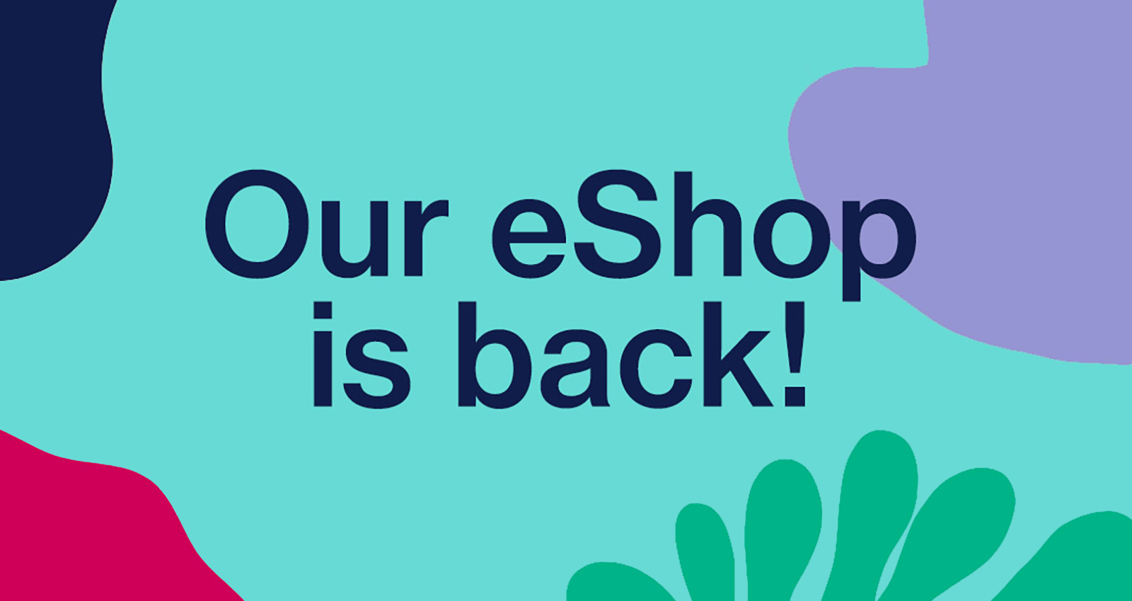 Our eShop is back! Click the links in our menu to see our range of items