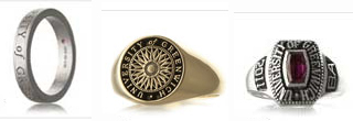 New for 2011! University of Greenwich Official Graduation Rings